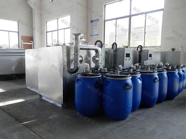 餐饮类大地上式自动化油水分离机需要泵吗