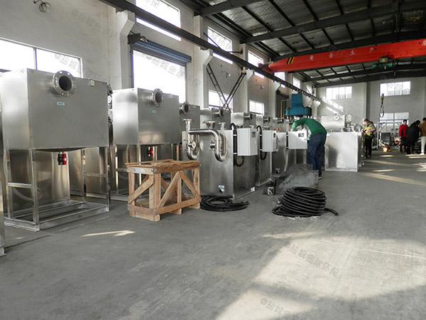 餐饮类中小型地下式自动除渣隔油过滤器处理量