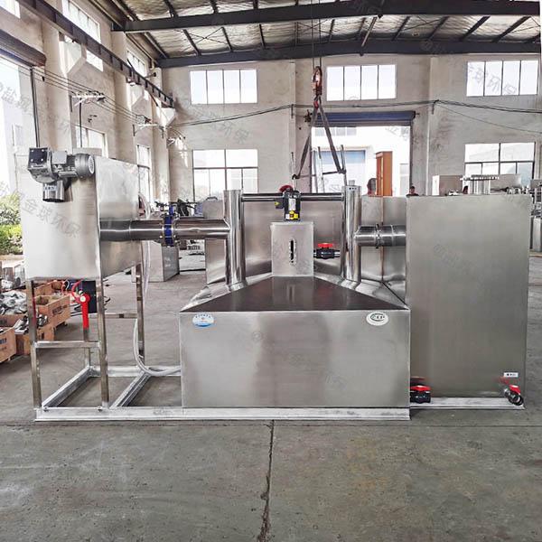 工厂食堂地面式中小型自动排水油水分离池大样图