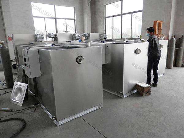 餐饮行业大型地面智能油水分离器和隔油池图片