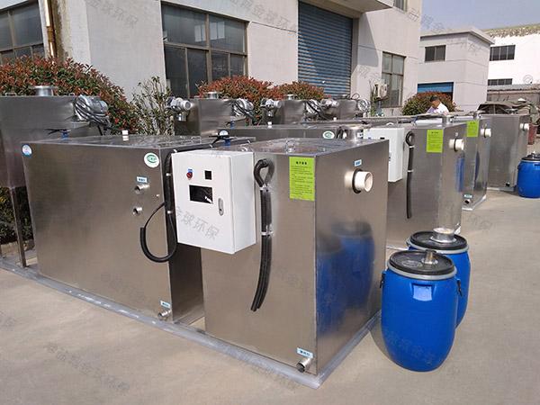 餐用中小型埋地式全自动智能型污水隔油提升设备的设计计算