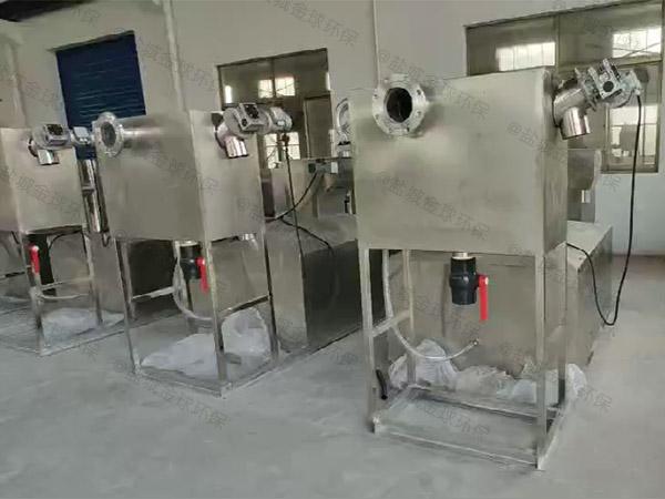 厨余地下室半自动隔油提升一体化设备改造方案