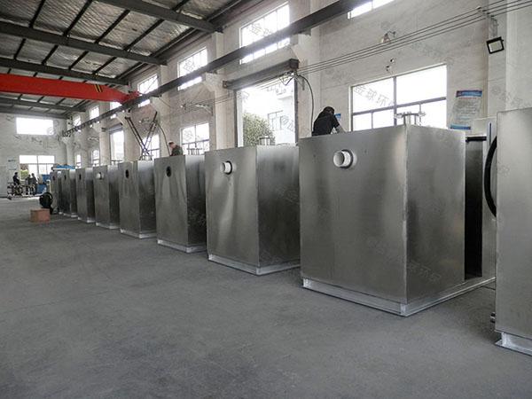 饮食业中小型地面智能油水分离器设备环保