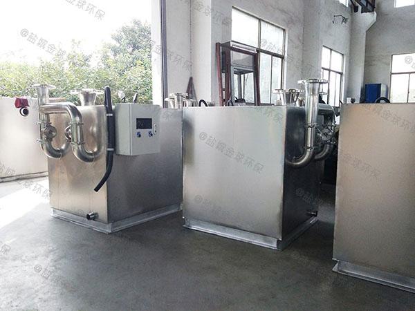 火锅店埋地式中小型自动排水一体化隔油池设备直销