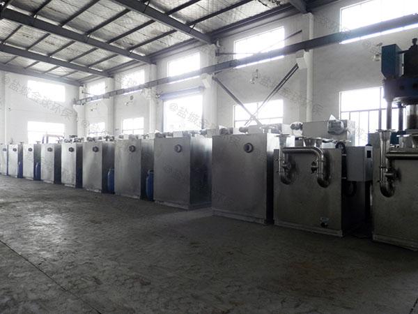 餐饮环保地面式简易强排油水分离器内部结构