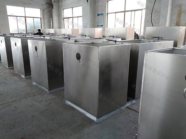 火锅专用中小型地下式自动提升污水处理油水分离器视频
