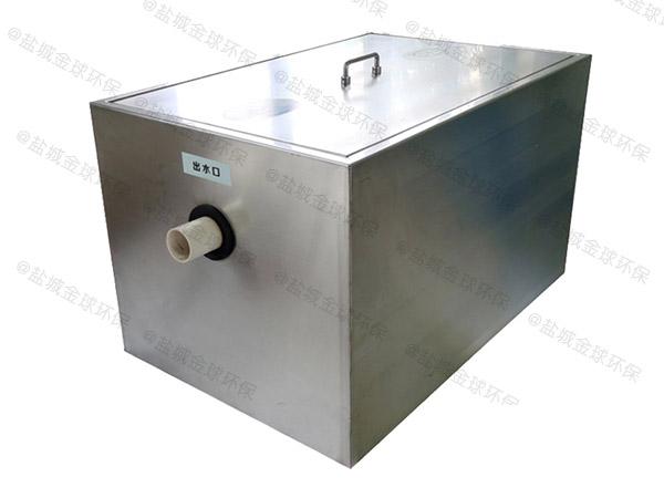 餐饮类大型多功能污提及隔油设备安装图片