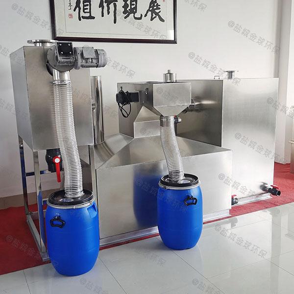 饭堂地下室大型自动刮油成套隔油设备产品