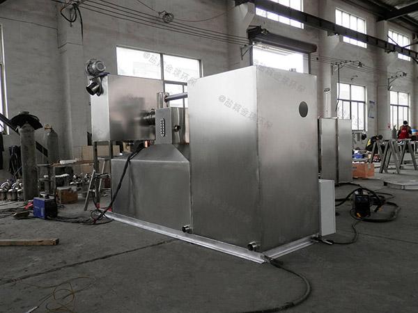 3.5米*1.35米*1.85米餐厅自动提升水油分离施工图