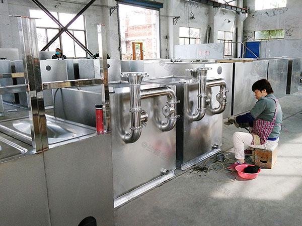 500人饭店自动排水不锈钢隔油池厂家供应