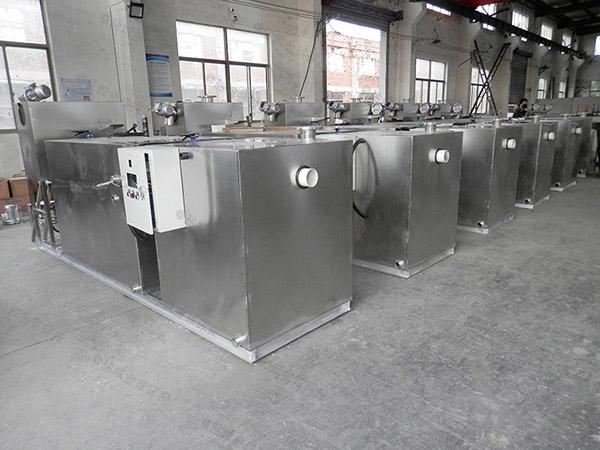 食堂用室外无动力油水分离提升设备改造升级
