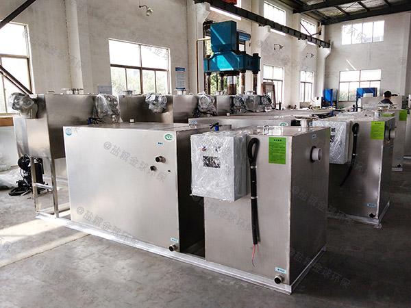 100人食堂自动排水油水处理设备厂家