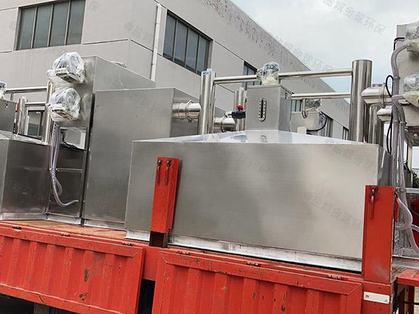 3.5米*1.35米*1.85米餐厨自动排水油水分离过滤器的原理图解