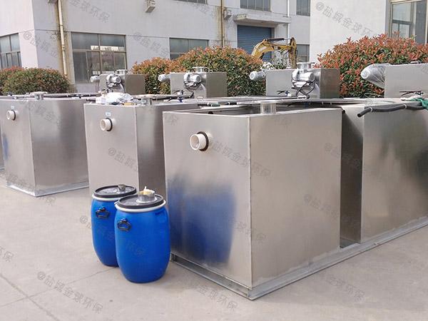 甲型餐厅自动刮油油水分离机的作用
