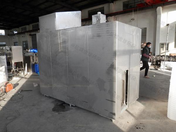 餐饮行业2.8米*1.2米*1.75米不锈钢隔油处理设备结构图