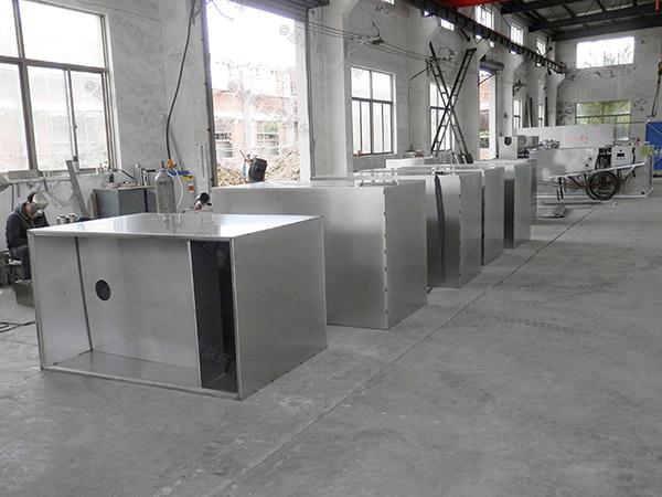 2.8米*1.2米*1.75米餐厨垃圾自动提升油水分离过滤器图纸