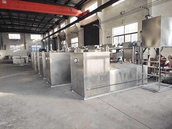 餐饮行业甲型隔油隔渣隔悬浮物隔油提升一体化排放标准