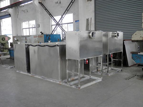 3.1米*1.2米*1.85米饭店智能化不锈钢隔油池原理