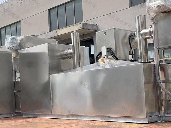 8吨的长宽高厨房智能油水分离过滤器的原理图解