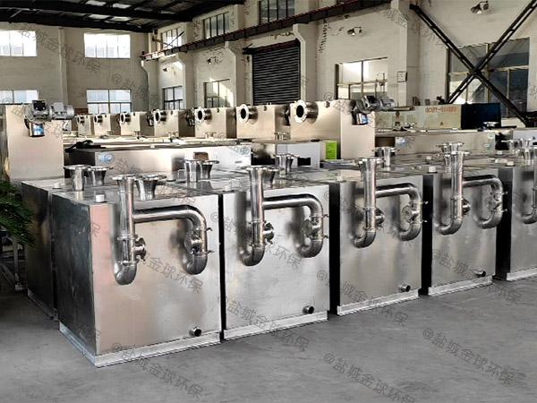 餐饮业500人隔渣隔油一体化设备设计要求