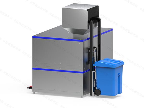 日处理10吨机械式餐厨垃圾一体化处理设备处理流程