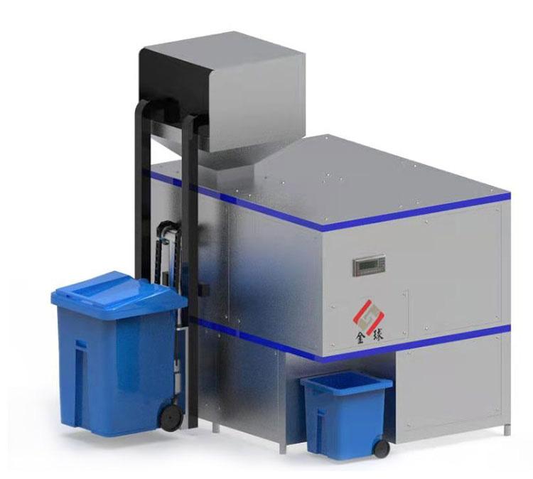 日处理10吨多功能餐饮垃圾油水分离设备视频