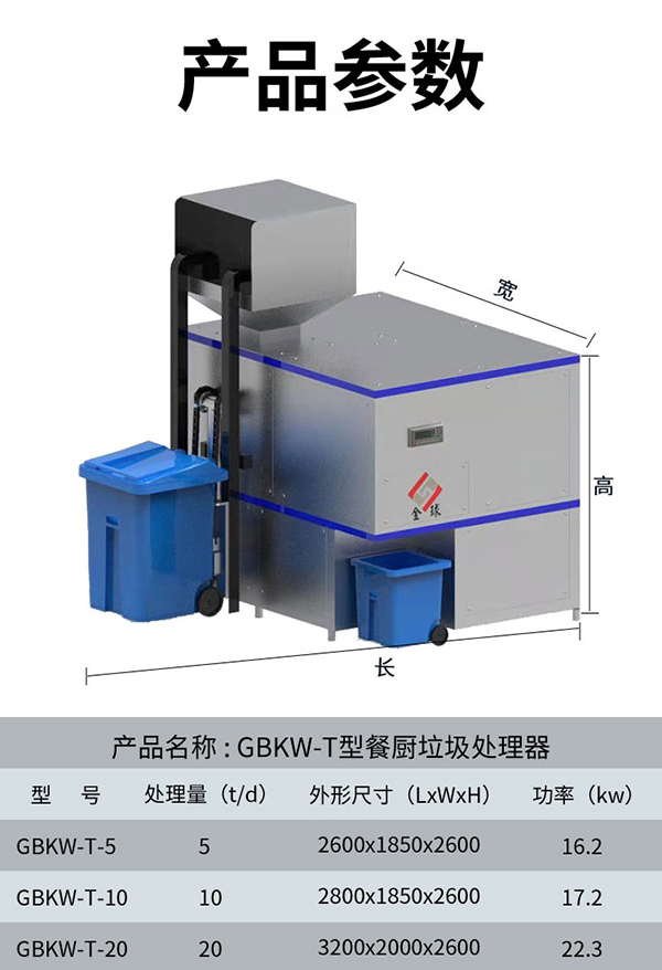 大型5吨环保厨余垃圾干湿分离设备规格型号