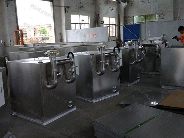 餐厅专用1000人电加热污水处理油水分离器计算