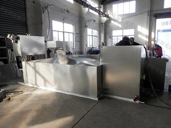 饭店厨房排水沟地埋斜板三级隔油器计算