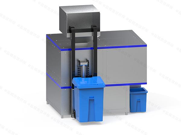 微型自动上料厨余垃圾油水分离一体机怎么安装