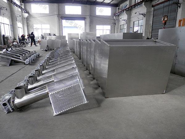 饭店厨房排水沟地埋式压缩空气强排油水分离器环保要求