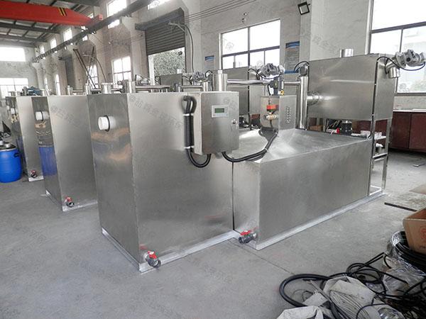饭店厨房排水沟大分体式气浮式自动隔油器结构图