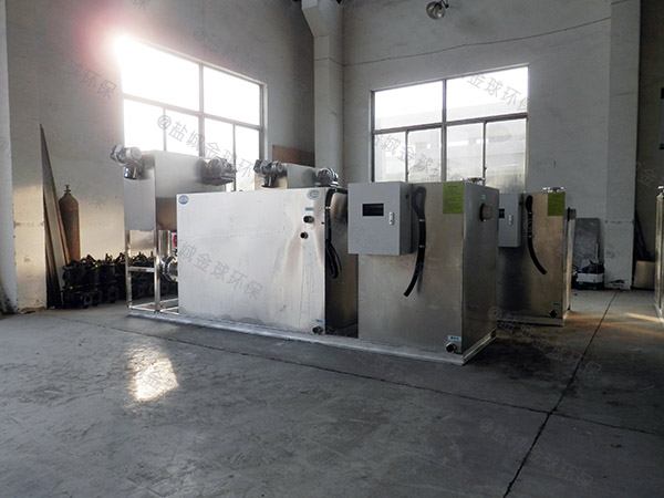 餐厅厨房密闭式斜板强排油水分离器施工方案